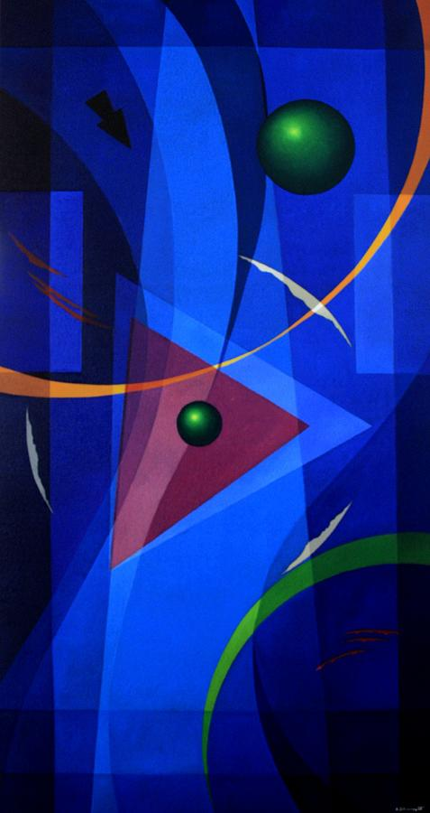 Abstract Painting - Gnosis - IIi by Alberto D-Assumpcao