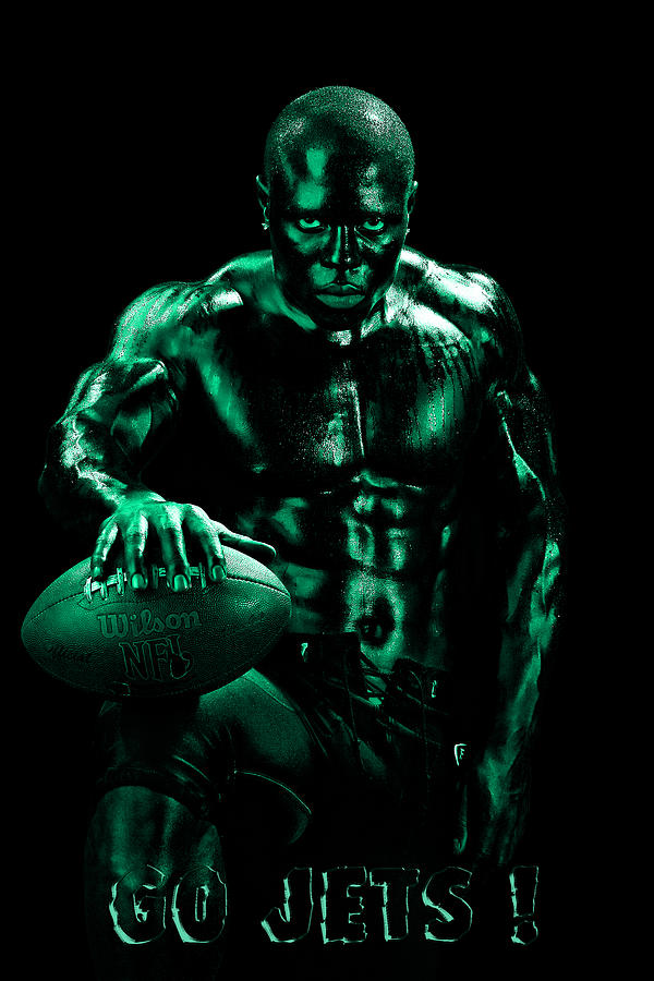 Football Photograph - Go Jets by Val Black Russian Tourchin