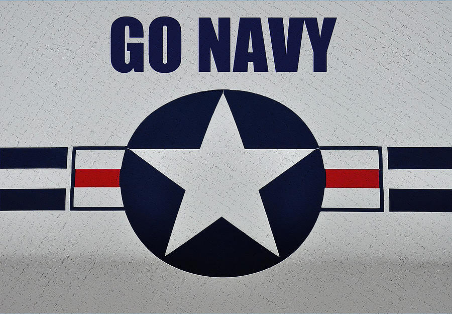 Go Navy Photograph By Bill Cannon