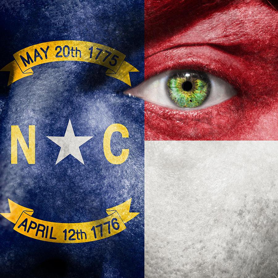 Art Photograph - Go North Carolina by Semmick Photo