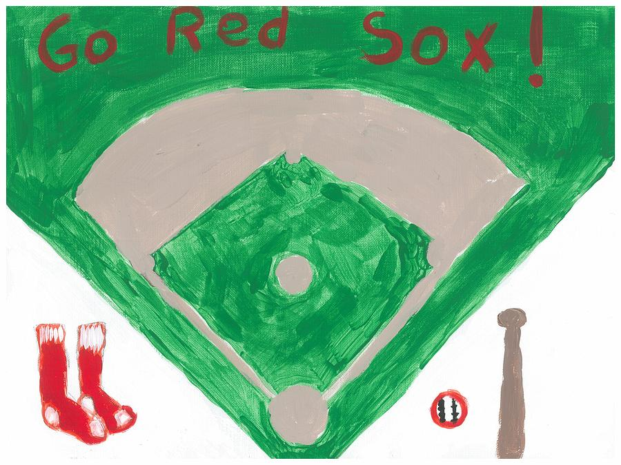 Go Red Sox Painting  - Go Red Sox Fine Art Print