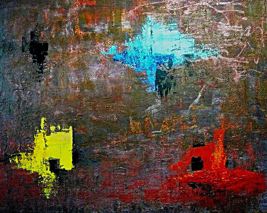 Abstract Painting - Goan Colorful Soil by Piety Dsilva