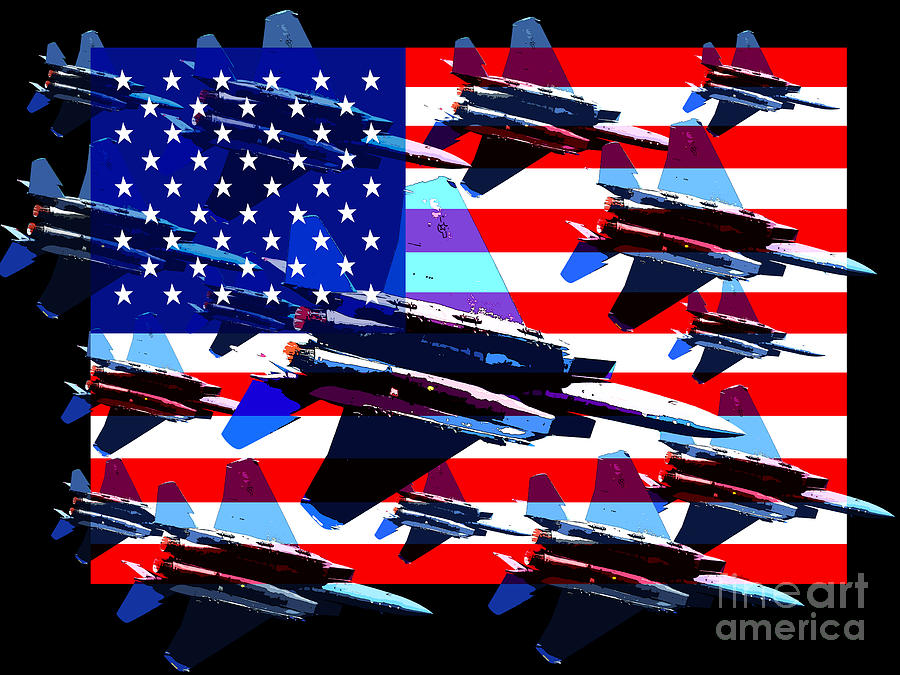 Transportation Photograph - God Bless America Land Of The Free 2 by Wingsdomain Art and Photography