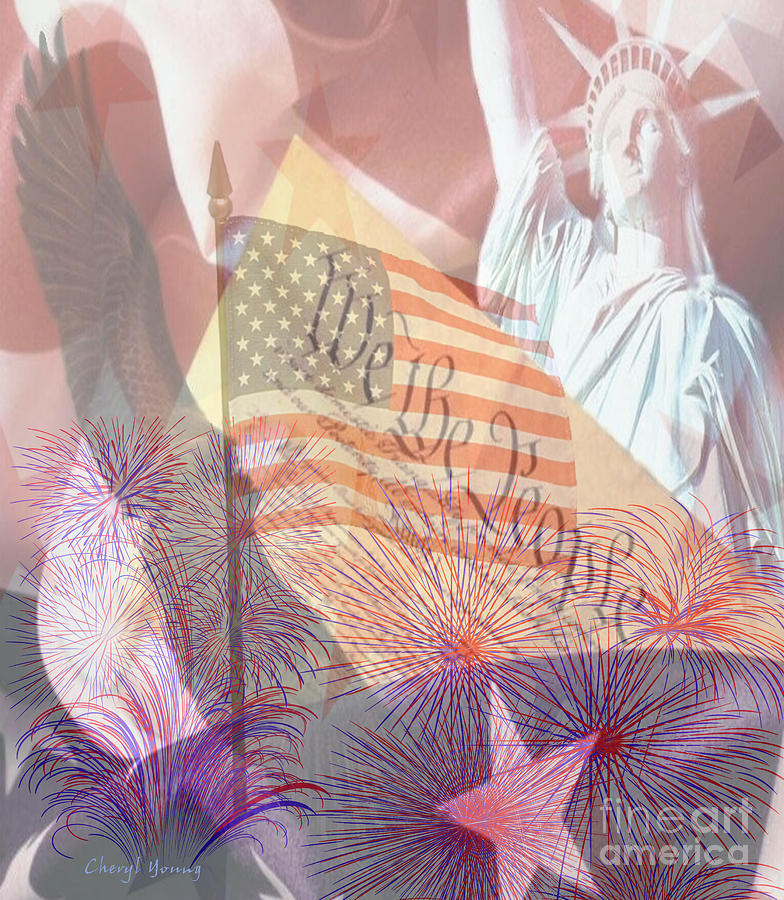 God Bless The Usa Photograph  - God Bless The Usa Fine Art Print