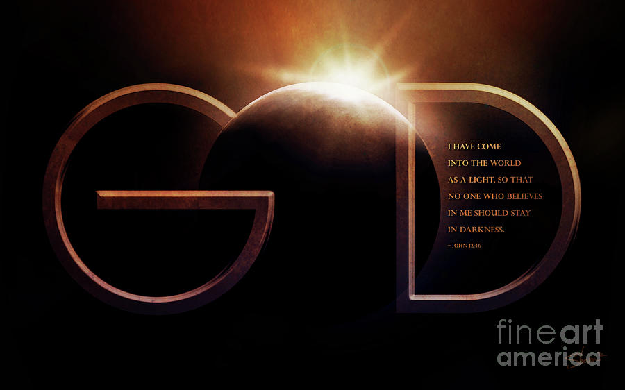 God Is Light Mixed Media  - God Is Light Fine Art Print