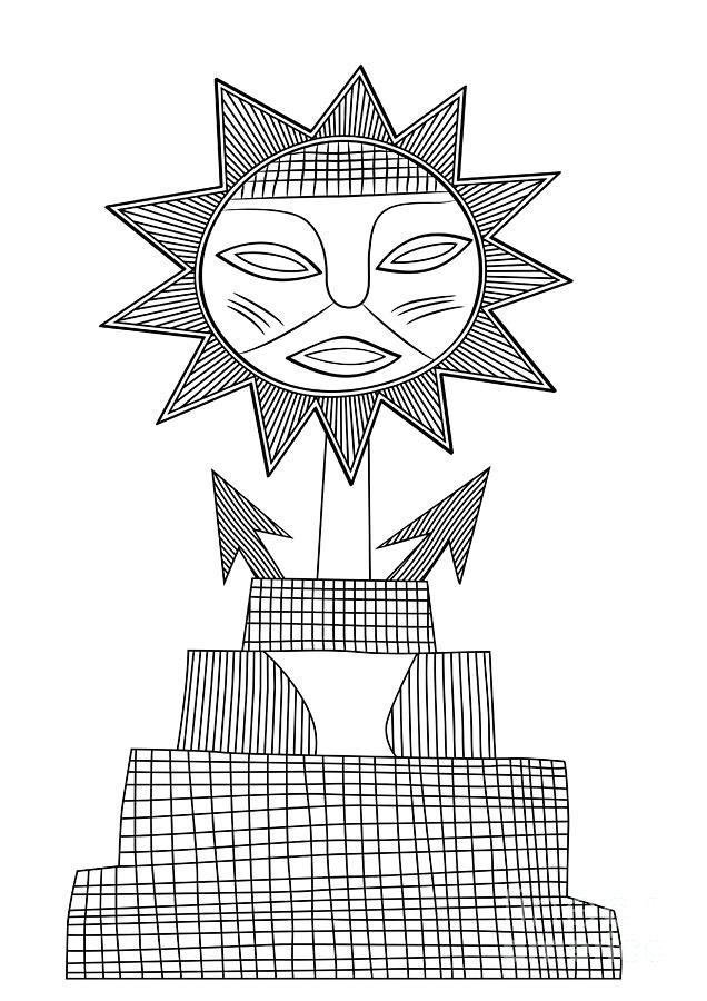 God Of Sun Drawing