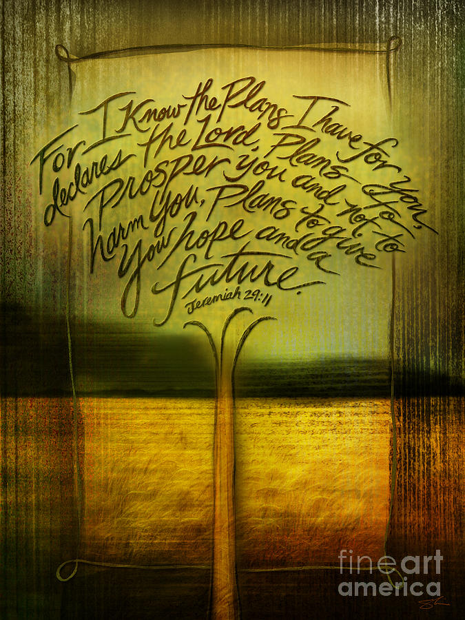 Gods Plans Mixed Media  - Gods Plans Fine Art Print
