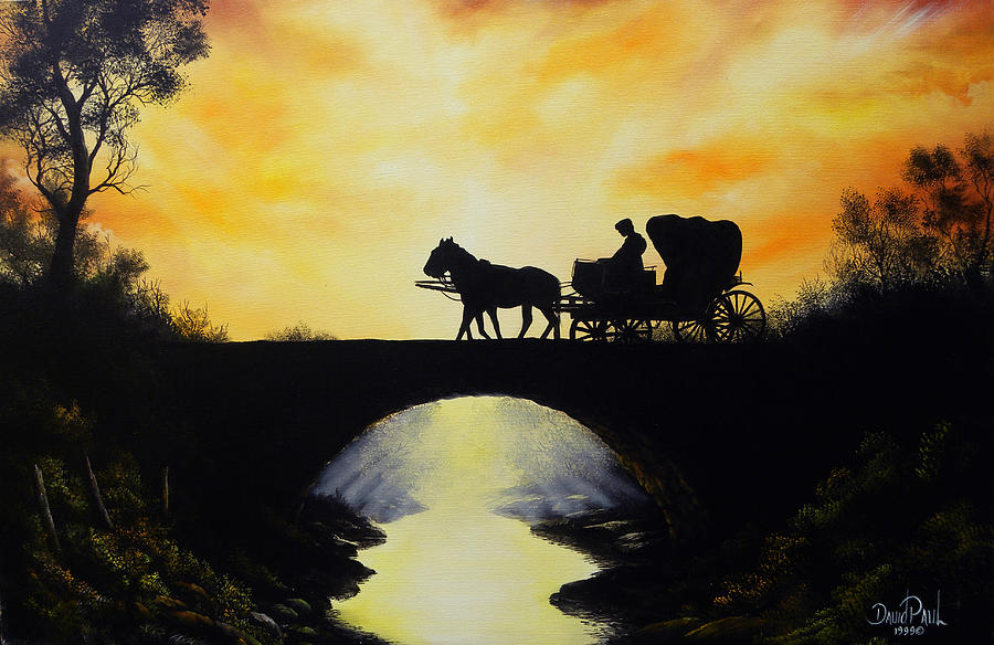 Going Home From Work Painting  - Going Home From Work Fine Art Print