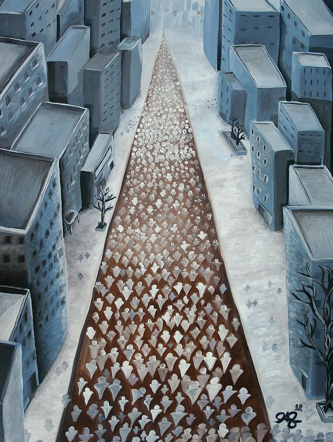 City Paintings Painting - Going Home by Jose A Gonzalez