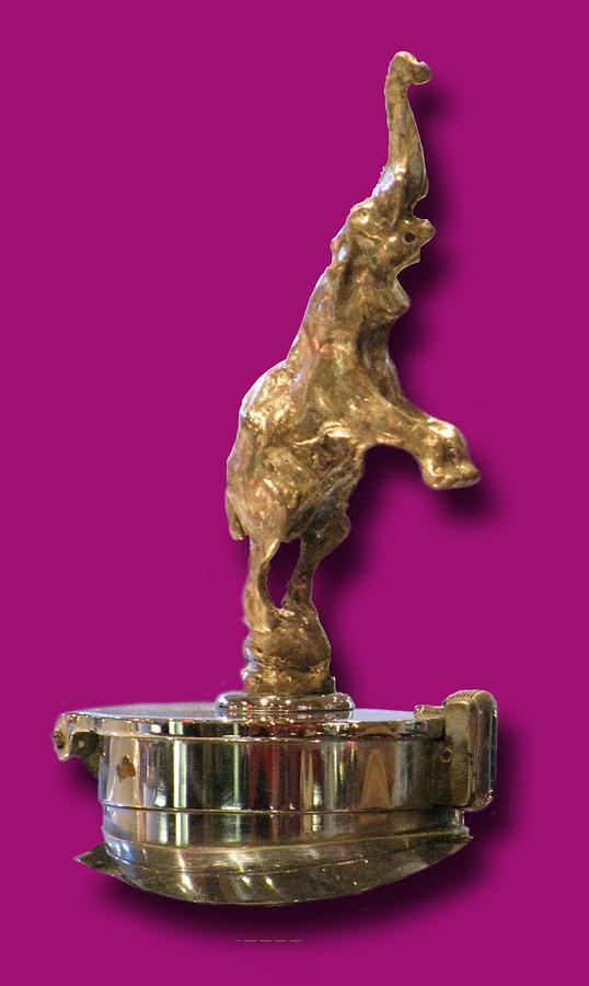 Gold Buggatti Mascot Photograph