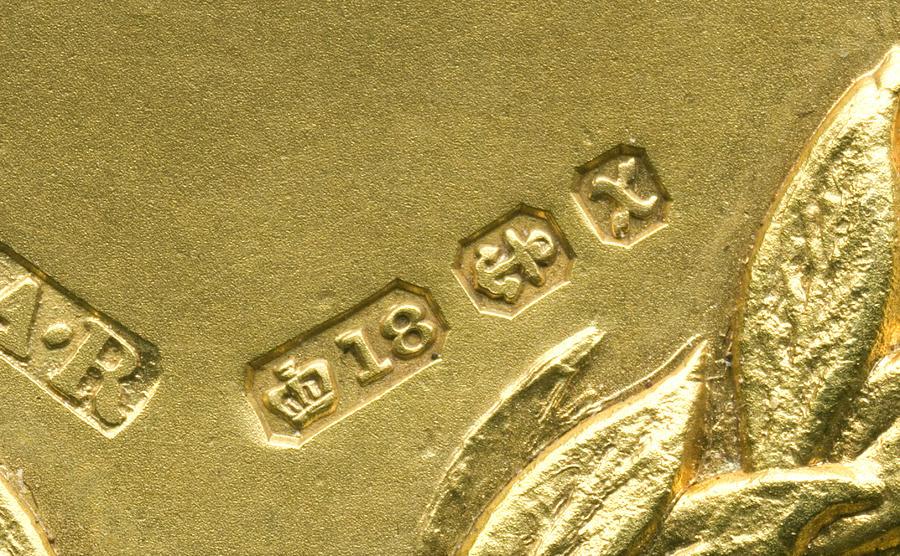 Gold Hallmarks, 1897 Photograph