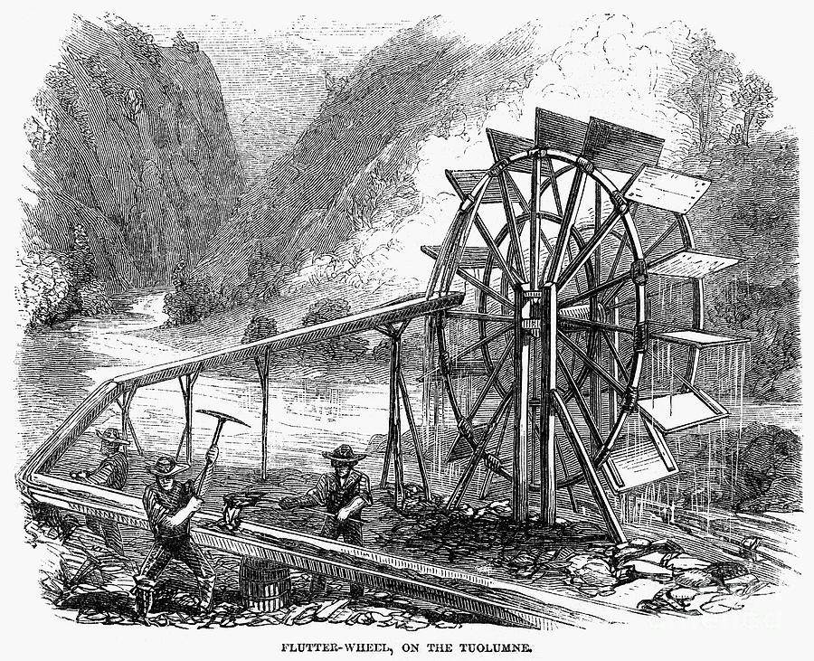 Gold Mining, 1860 Photograph