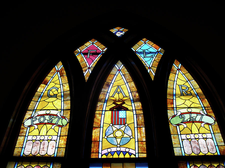 Gold Stained Glass Window Photograph