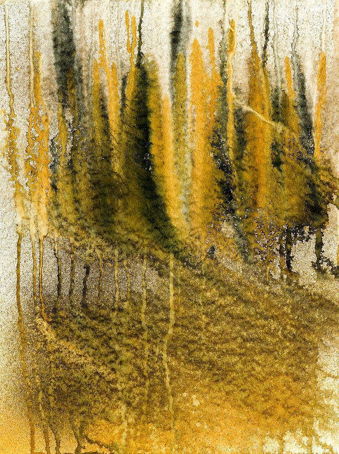 Golden autumn forest painting by hakon soreide for Painting a forest in acrylics