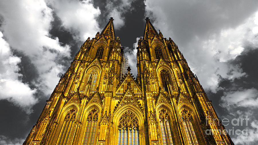 Golden Dome Of Cologne Photograph  - Golden Dome Of Cologne Fine Art Print