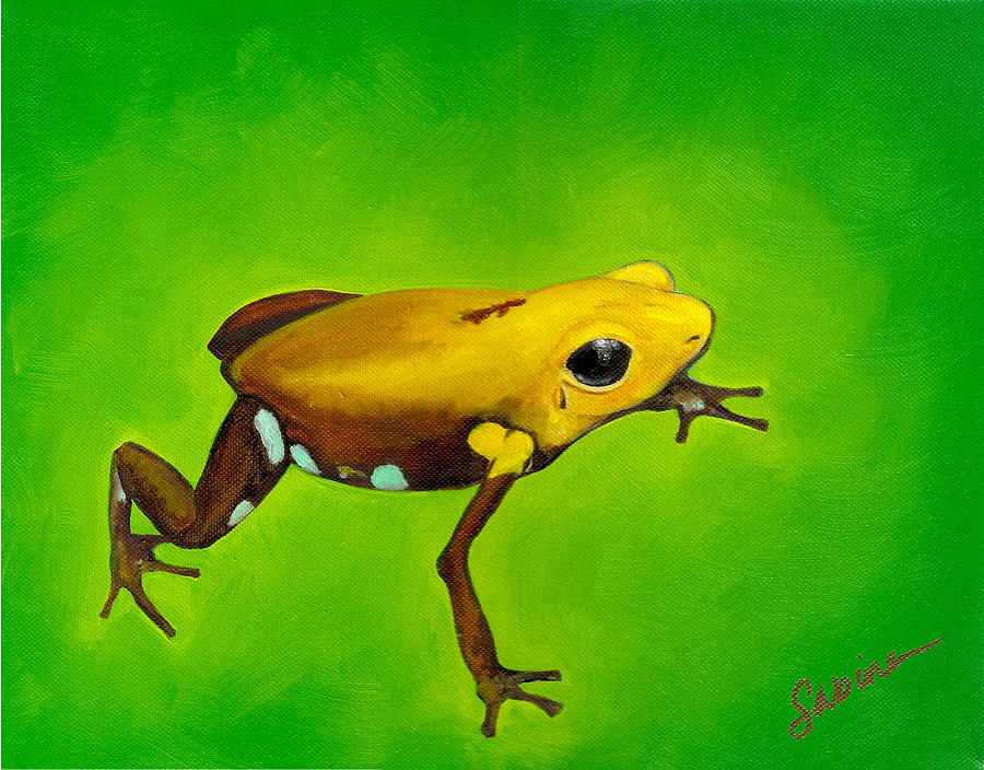 Golden Frog Of Supata Painting