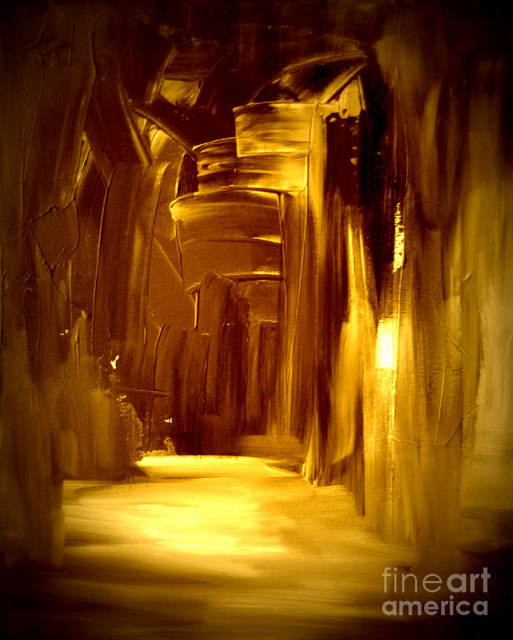Golden Future Painting  - Golden Future Fine Art Print