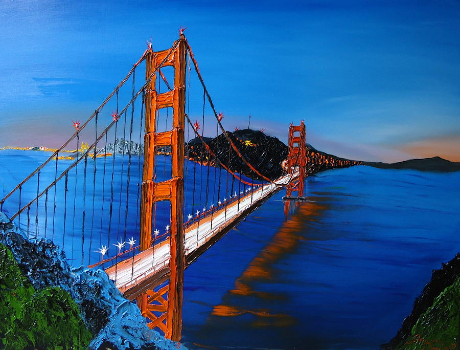 golden gate bridge blue - photo #8
