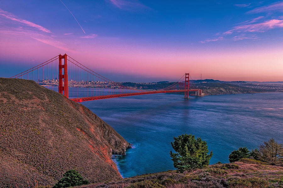 Golden Gate Bridge Photograph - Golden Gate Bridge by Eyal Nahmias