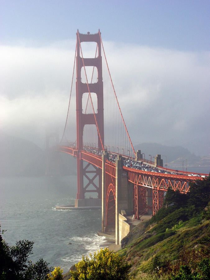 Golden Gate Bridge In The Fog Photograph  - Golden Gate Bridge In The Fog Fine Art Print