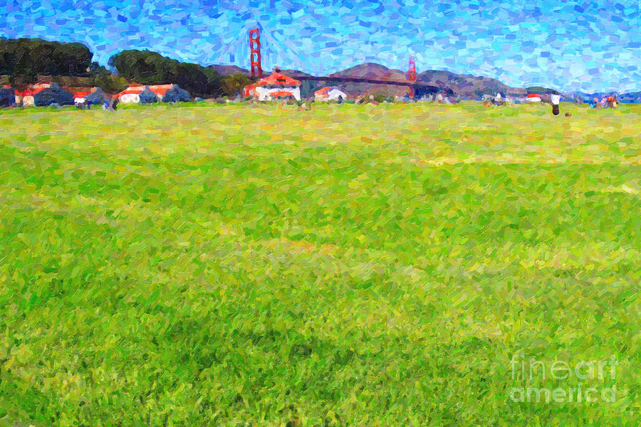 Golden Gate Bridge Viewed From Crissy Fields Photograph