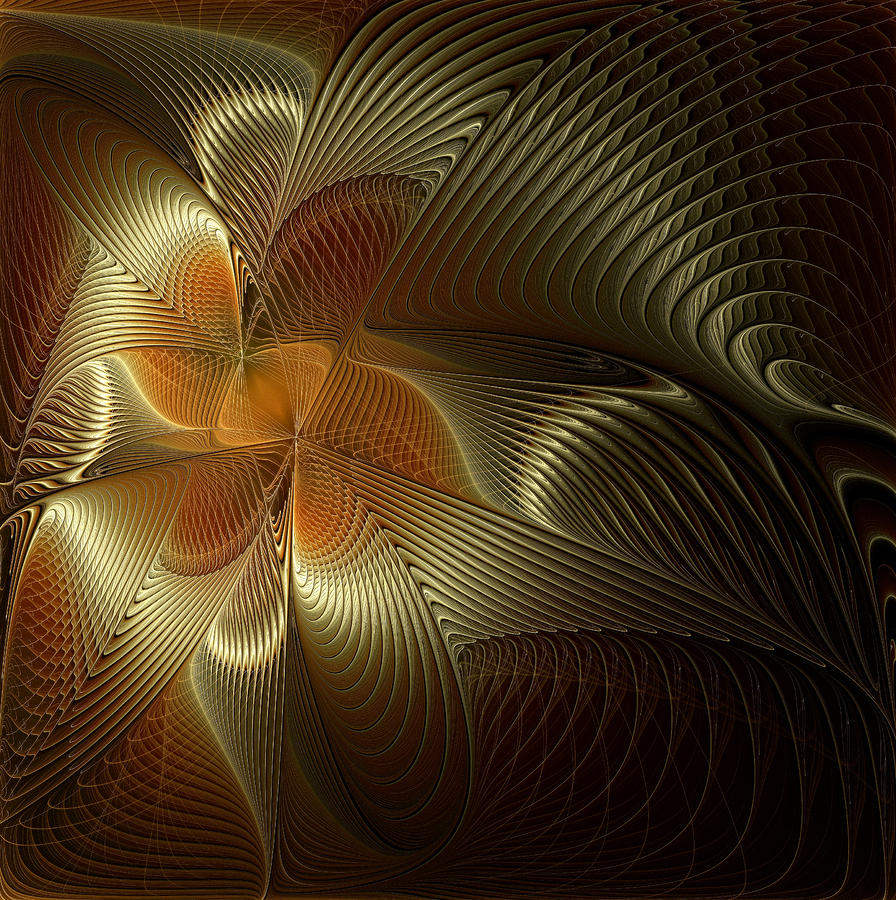 Golden Geometry Digital Art  - Golden Geometry Fine Art Print