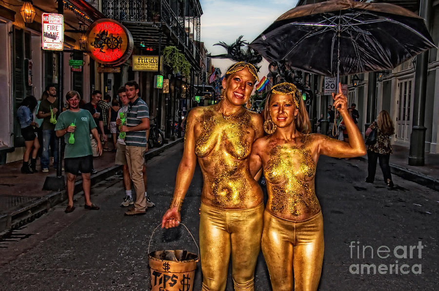Golden Girls Of Bourbon Street  Photograph  - Golden Girls Of Bourbon Street  Fine Art Print