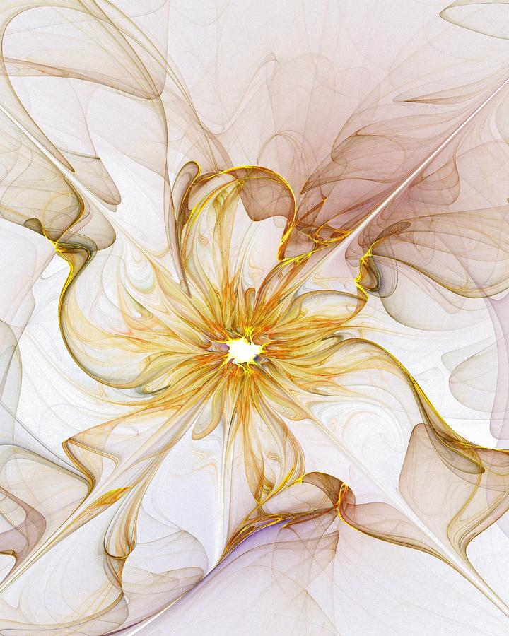 Golden Glow Digital Art