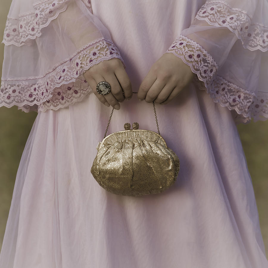 Woman Photograph - Golden Handbag by Joana Kruse