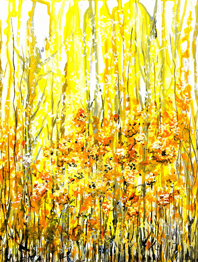 Golden Meadow Painting  - Golden Meadow Fine Art Print