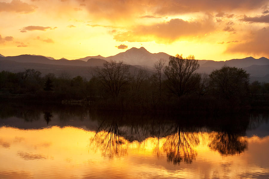 Golden Ponds Longmont Colorado Photograph  - Golden Ponds Longmont Colorado Fine Art Print