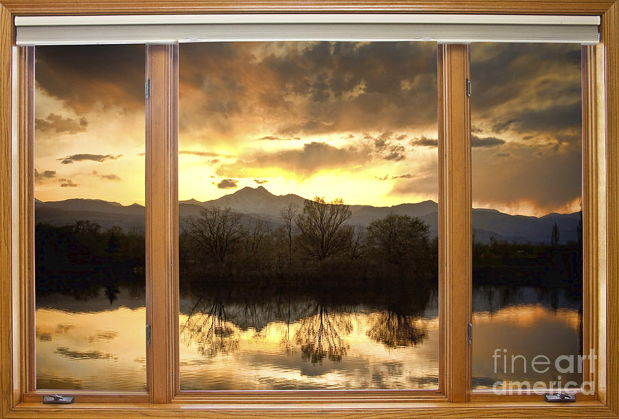 golden ponds window with a view photograph by james bo insogna