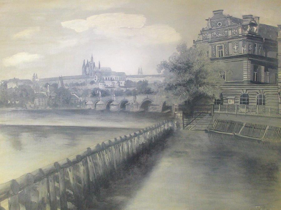 Golden Prague Painting