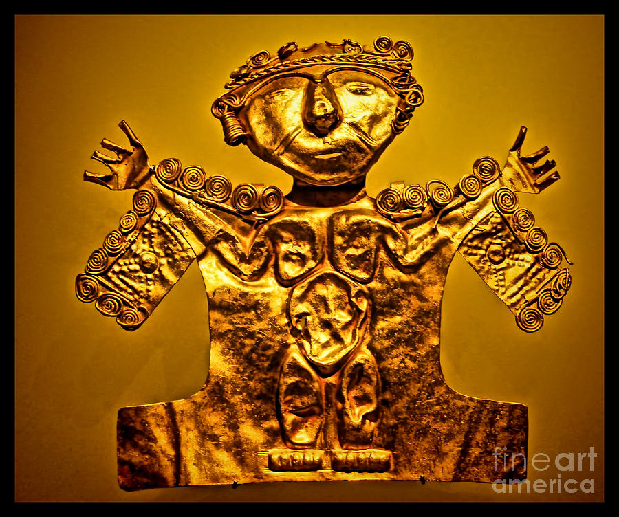 Golden Priest Statue Photograph  - Golden Priest Statue Fine Art Print