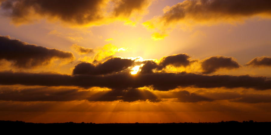 Golden Ray Sunset Photograph  - Golden Ray Sunset Fine Art Print