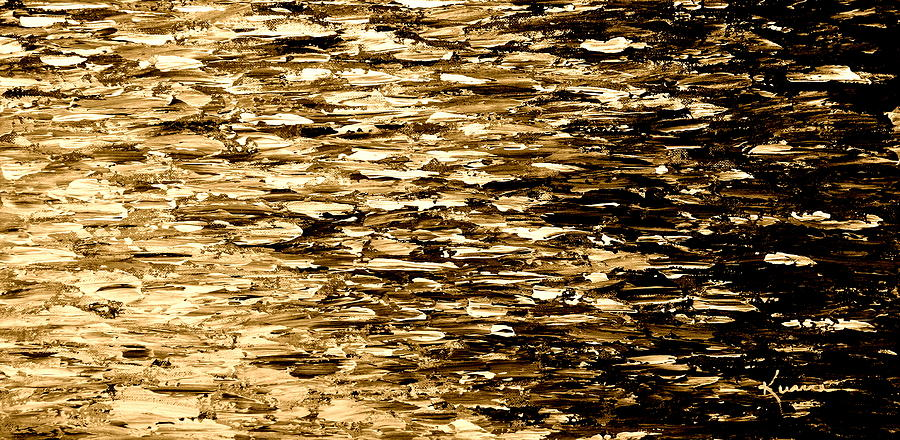 Golden Reflections Painting  - Golden Reflections Fine Art Print