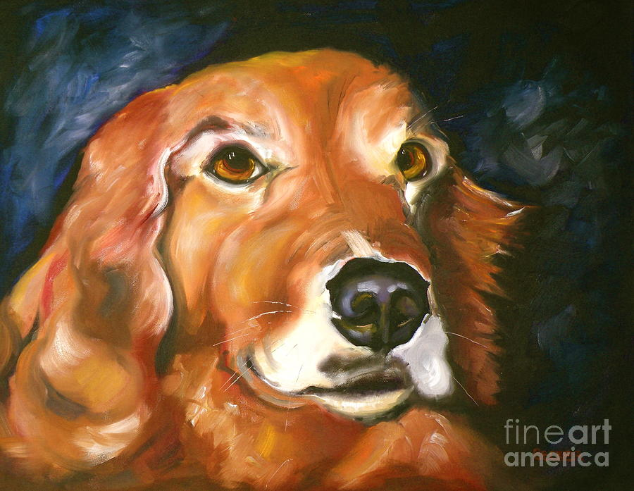 Golden Retriever Forever Friend Painting  - Golden Retriever Forever Friend Fine Art Print