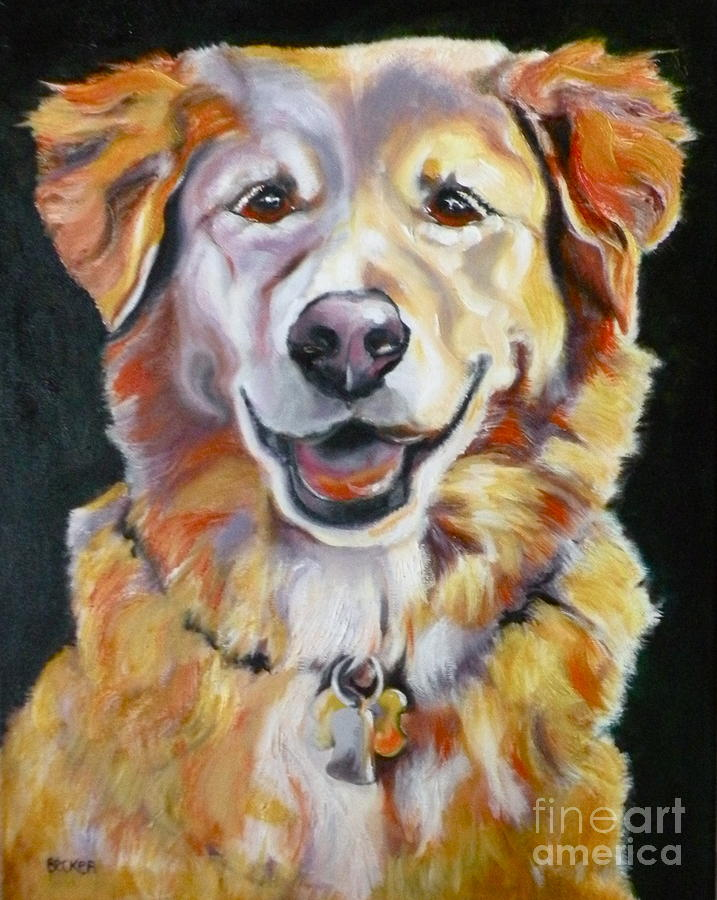 Golden Retriever Most Huggable Painting