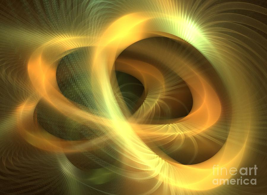 Golden Rings Digital Art