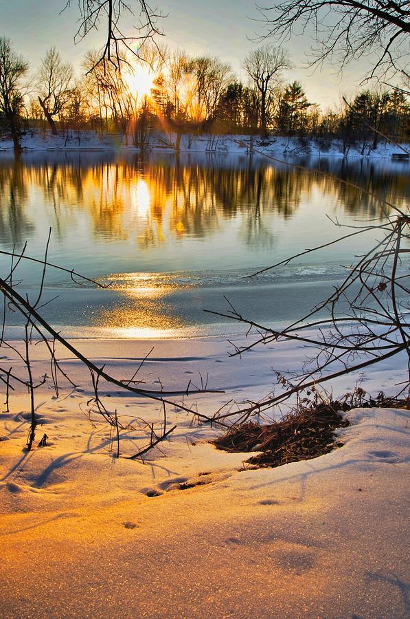 Golden Snow Photograph