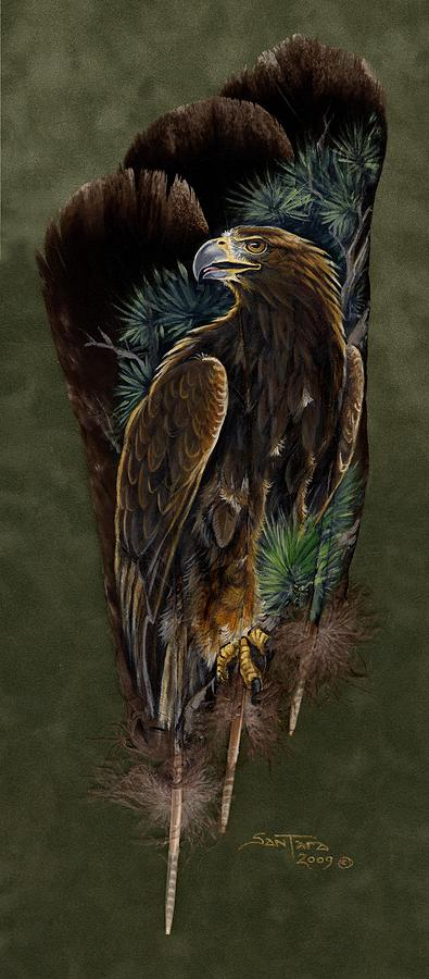 Golden Eagle Painting - Golden Splendor by Sandra SanTara