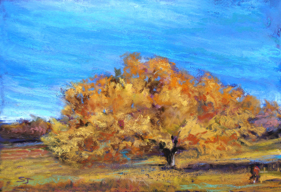 Golden Tree Pastel  - Golden Tree Fine Art Print