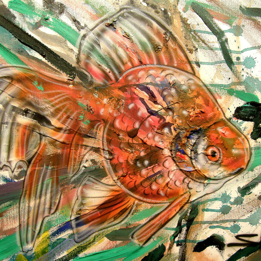 Goldfish Study 2 Painting