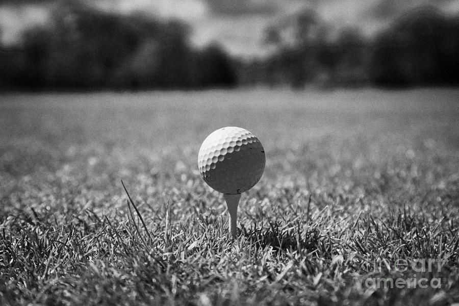 Golf Ball On The Tee Photograph