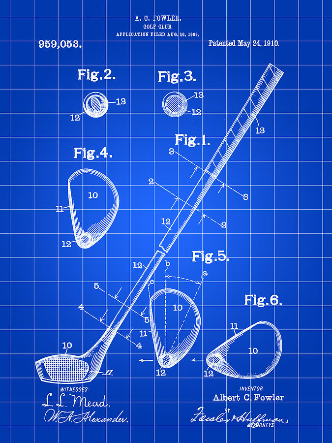 Golf Club Patent Digital Art
