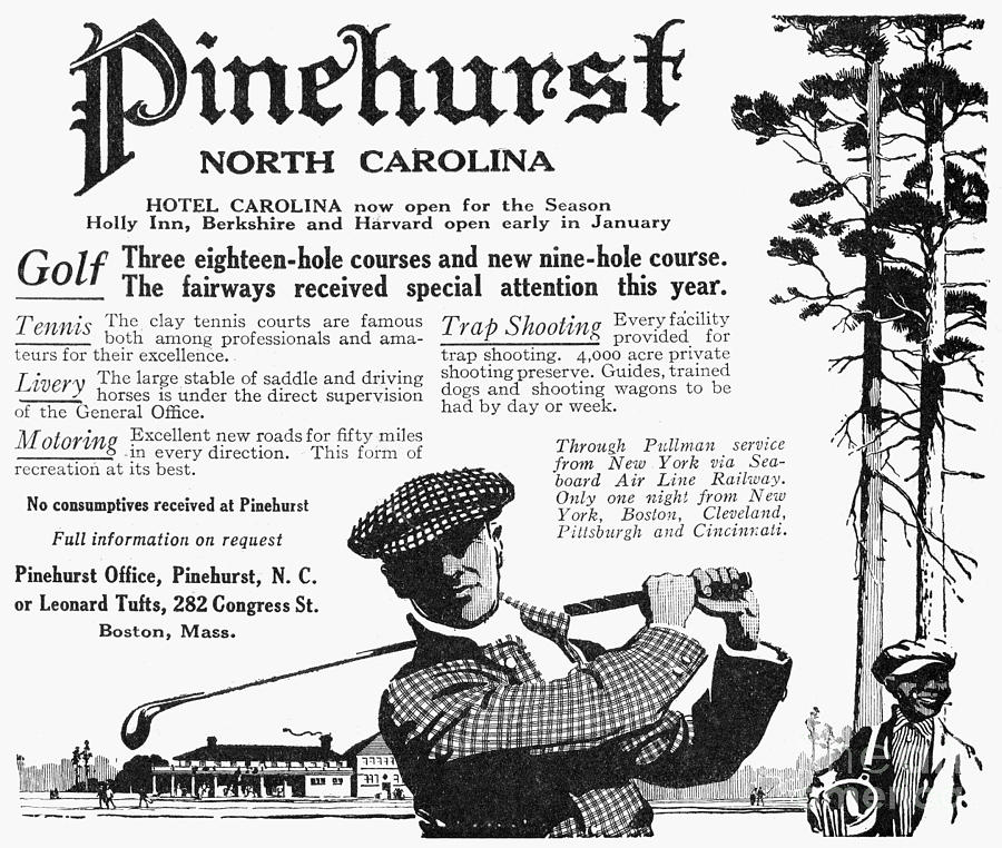 Golf: Pinehurst, 1916 Photograph