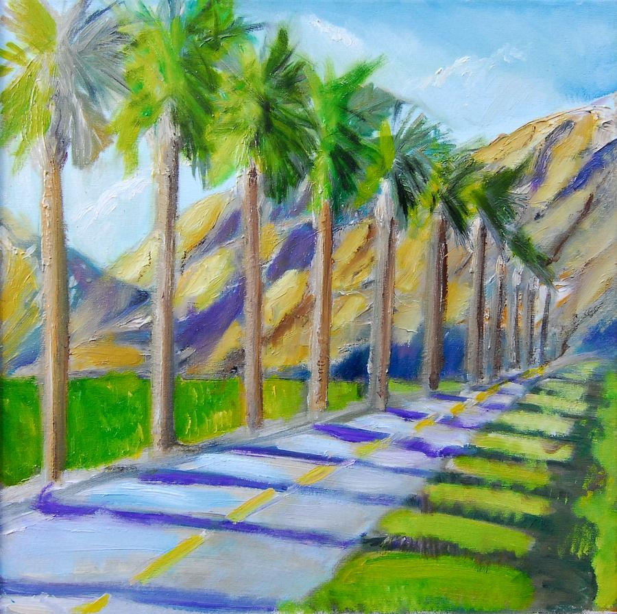 Golf Trails At Palm Springs Painting  - Golf Trails At Palm Springs Fine Art Print