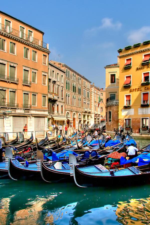 Gondolas In The Square Photograph