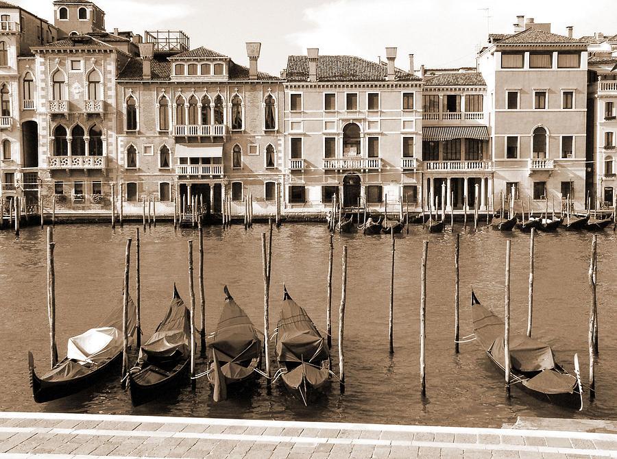 Gondolas Outside Salute Photograph