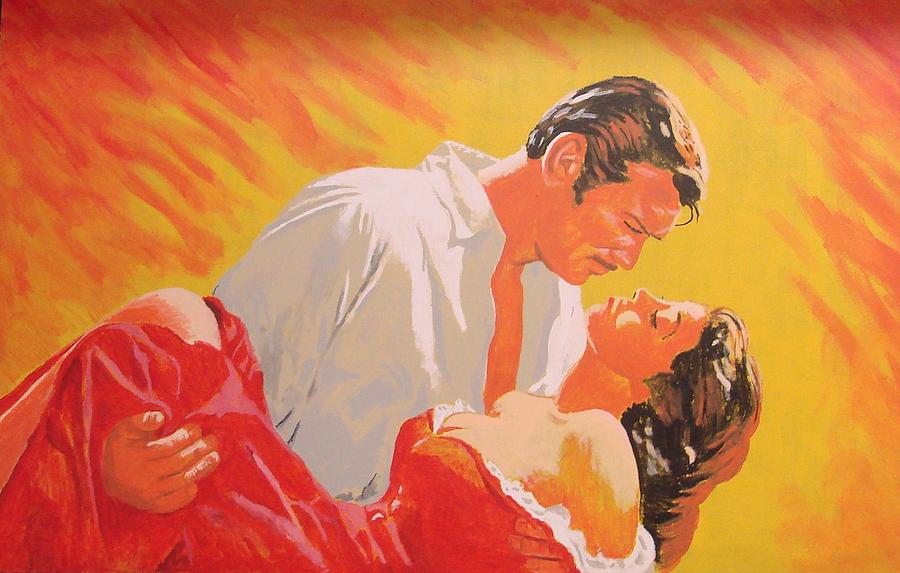 Gone With The Wind Painting  - Gone With The Wind Fine Art Print